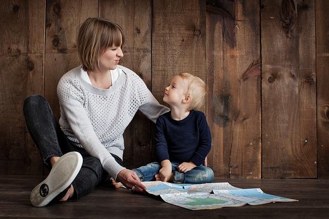 spokojená matka se synem